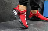 Мужские летние кроссовки Adidas NMD Human RACE, красные сетка, фото 5