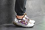 Кроссовки демисезонные мужские Nike (реплика) белые с фиолетовым, фото 2
