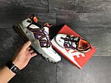 Кроссовки демисезонные мужские Nike (реплика) белые с фиолетовым, фото 4