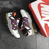 Кроссовки демисезонные мужские Nike (реплика) белые с фиолетовым, фото 6