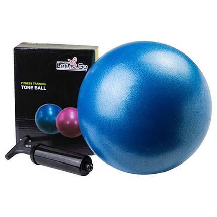 Мяч для йоги, пилатеса Let's Go, PVC, d=25 см, синий, фото 2