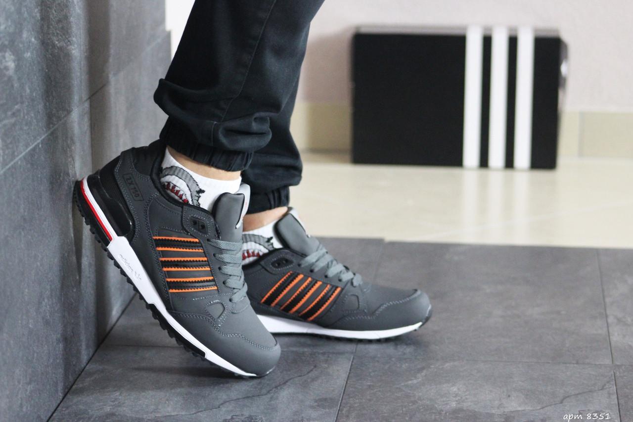 Мужские кроссовки в стиле Adidas (весна-осень, мужские, нубук, серые)
