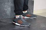 Мужские кроссовки в стиле Adidas (весна-осень, мужские, нубук, серые), фото 2