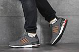 Мужские кроссовки в стиле Adidas (весна-осень, мужские, нубук, серые), фото 3