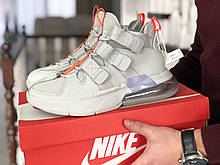 Мужские кроссовки Nike Air Force 270, Найк Аир Форс, демисезонные, пресскожа, серые