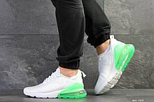 Мужские кроссовки Nike Air Max 270 летние белые в сетку Найк Аир Макс 270 воздушная подушка реплика