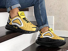 Мужские кроссовки Nike Air Max 720 желтые демисезонные в стиле Найк Аир Макс 720