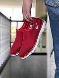 Кросівки чоловічі в стилі Nike Free Run 3.0 сітка, червоні, фото 2