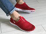 Кросівки чоловічі в стилі Nike Free Run 3.0 сітка, червоні, фото 4