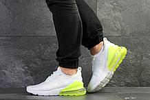 Мужские кроссовки Nike Air Max 270 (белые с желтым, сетка)