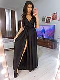 Платье в пол нарядное люрекс KT594, фото 2
