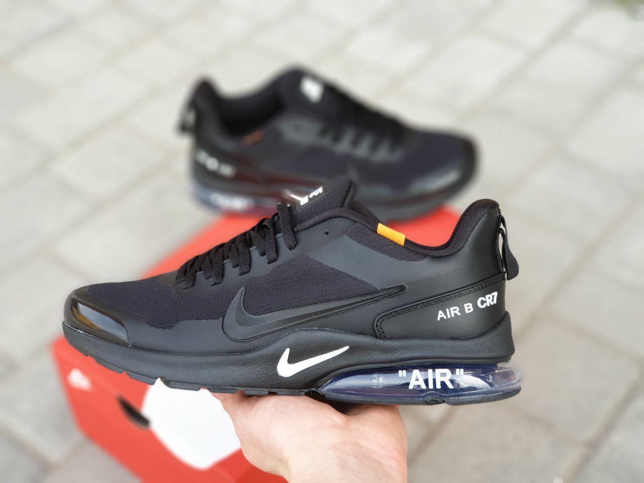 Чоловічі кросівки Nike Air Presto CR7 Black сітка, чорні кросівки в стилі Найк Аїр Престо