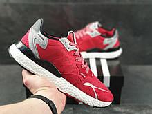 Кроссовки мужские Adidas Nite Jogger Boost 3M, демисезонные,  красные в стиле Адидас