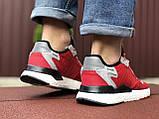 Кросівки чоловічі Nite Jogger Boost червоні 3M, демісезонні, сітка, замша, репліка, фото 4