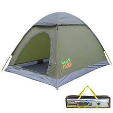 Палатка туристическая двухместная GreenCamp 3005.