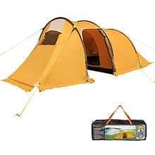 Палатка туристическая трехместная Mimir 1017, оранжевая.