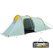 Палатка туристическая трехместная Mimir 1017, светло/серый.