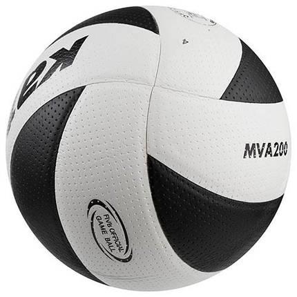 М'яч волейбольний Kata200 PU, білий/чорний. Знижка, фото 2
