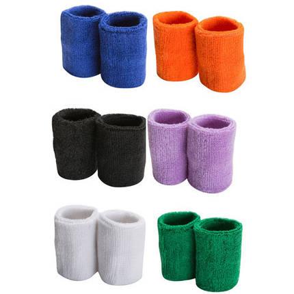 Напульсник махров, 2шт, оранж, білий,синій,бузок,зелений,чорний., фото 2