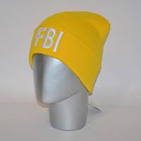 Шапка с 3D вышивкой FBI