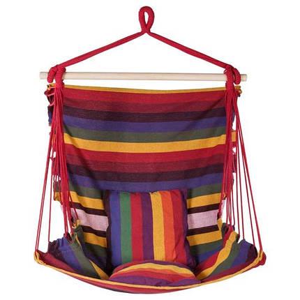 Гамак сидячий, ширина 95см, х/б, красный, подушки. Скидка, фото 2