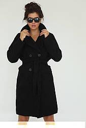 Пальто из букле 44, черный