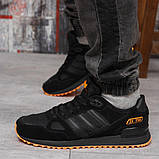 Кроссовки мужские 18163, Adidas ZX 750, черные, [ 43 44 45 46 ] р. 41-26,5см., фото 3