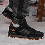 Кроссовки мужские 18163, Adidas ZX 750, черные, [ 43 44 45 46 ] р. 41-26,5см., фото 6