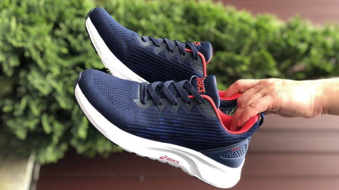 Летние мужские кроссовки Asics S600 синие сетчатые в стиле Асикс