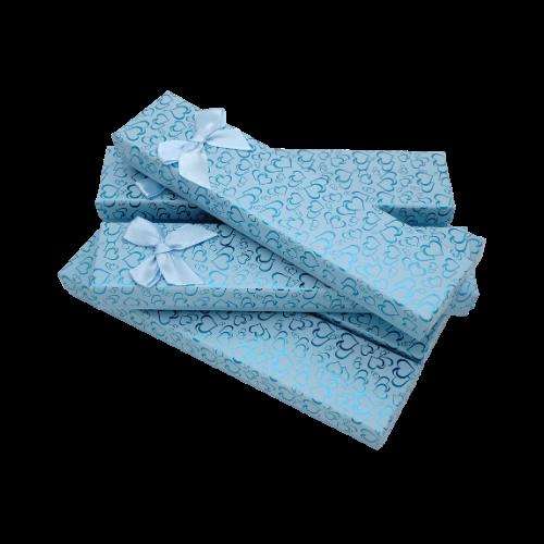 Коробочка подарочная для браслетов box2-4 Голубой