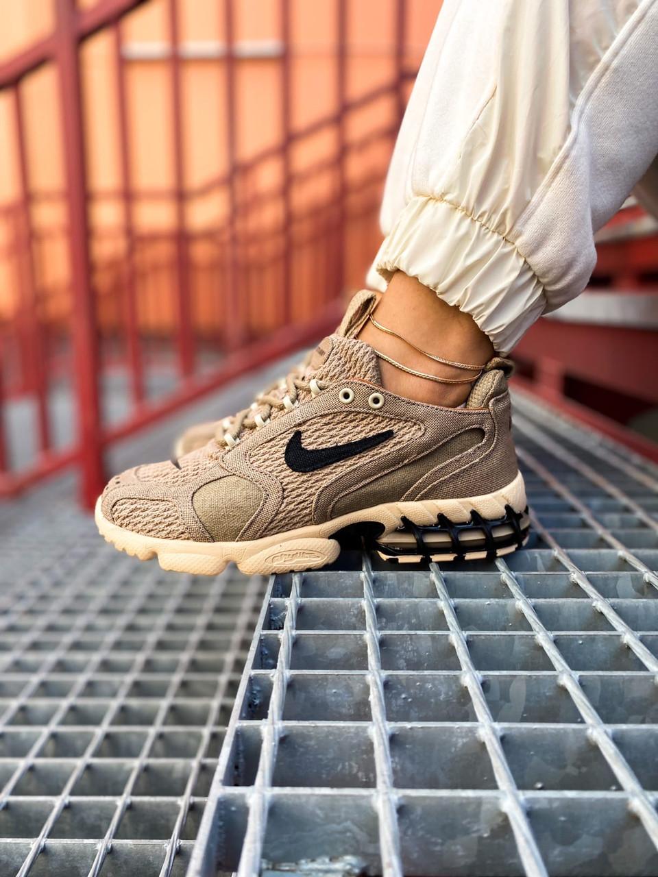 Жіночі бежеві Кросівки Nike Stüssy Air Zoom