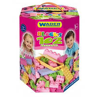 Детский конструктор Wader на 102 элемента (для девочек)
