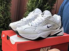 Мужские демисезонные кроссовки Nike M2K Tekno белые с черным (Найк м2к текно чоловічі)