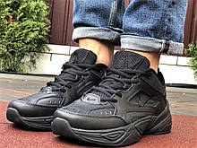 Мужские демисезонные кроссовки Nike M2K Tekno черные (Найк зимові м2к текно чоловічі)