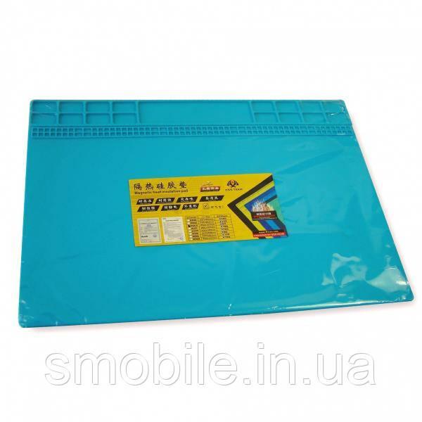 Коврик органайзер на рабочий стол QSS TEAM W201 250*350 мм (силиконовый, антистатический)