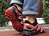 Salomon Speedcross 3 демісезонні чоловічі кросівки в стилі Саломон чорні з червоним, фото 4