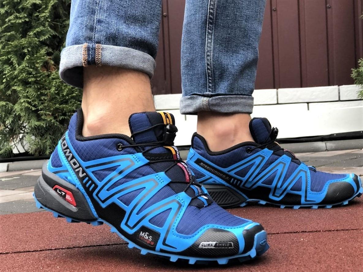 Salomon Speedcross 3 демисезонные мужские кроссовки в стиле Саломон синие