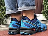 Salomon Speedcross 3 демисезонные мужские кроссовки в стиле Саломон синие, фото 2