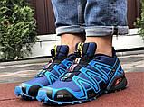 Salomon Speedcross 3 демисезонные мужские кроссовки в стиле Саломон синие, фото 3