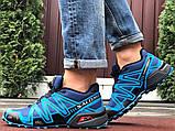 Salomon Speedcross 3 демисезонные мужские кроссовки в стиле Саломон синие, фото 4