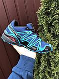 Salomon Speedcross 3 демисезонные мужские кроссовки в стиле Саломон синие, фото 5