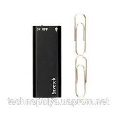 Міні диктофон з активацією голосом Savetek 100 (200) 16 Гб MP3 VOX 12 годин запису (02371)