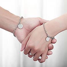 Парні браслети для двох закоханих під гравіювання медична сталь