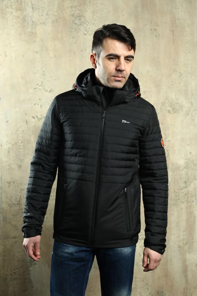 Куртка чоловіча DVMens DVD-49 ЧОРНА 100% поліестер 48(Р)