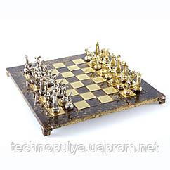 Шахматы Manopoulos «Дискобол», латунь, 54 х 54 см, 9.8 кг, коричневые (S17BRO)