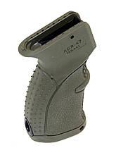 Пластиковая пистолетная рукоять для АК-47-74, Вепрь, Сайга прорезиненная Green AGR-47g  8870