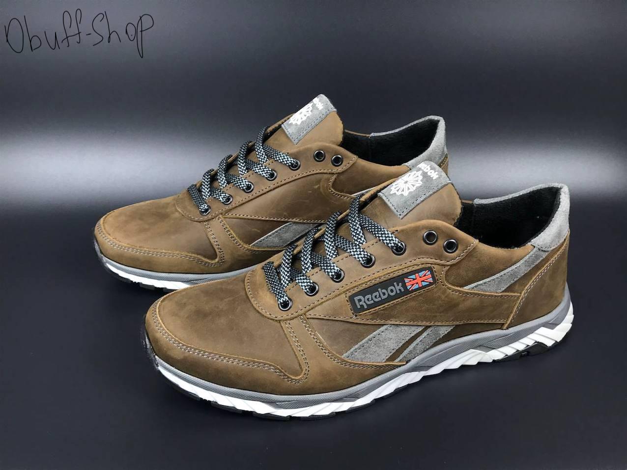 Чоловічі шкіряні кросівки Reebok демісезонні взуття в стилі Рібок