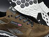 Чоловічі шкіряні кросівки Reebok демісезонні взуття в стилі Рібок, фото 3