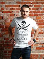 "Футболка мужская хлопковая белая ""Pirates"""