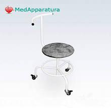 Стілець гвинтовий пересувний зі спинкою і опорою для ніг СВП-З